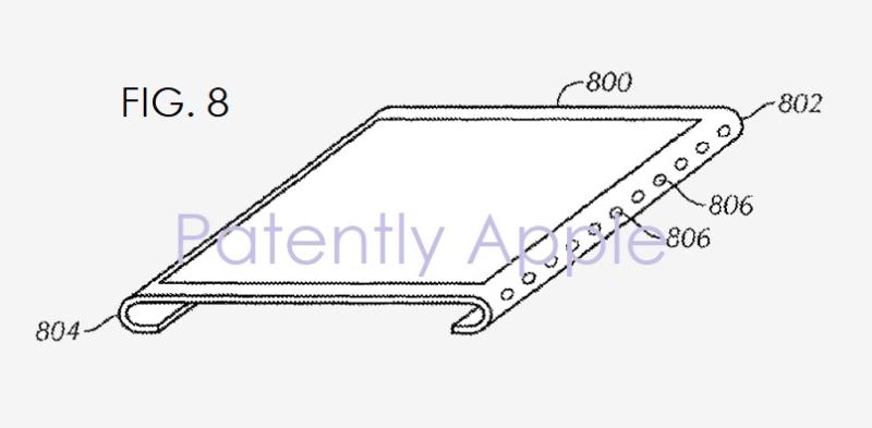 brevet ecran sans bordures iPhone 8 : Apple brevette un écran bord à bord avec lecteur dempreintes intégré
