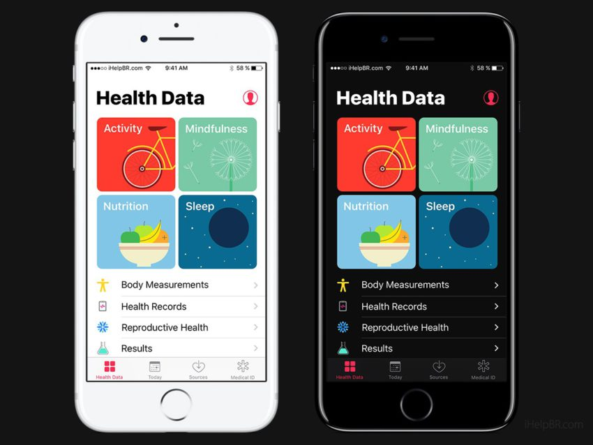 iOS 11 Concept Dark Health App Concept iOS 11 : mode nuit et interface inspirée dApple Music