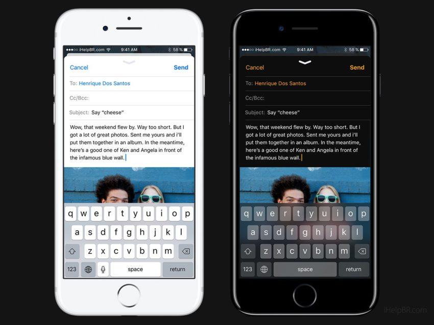 iOS 11 Concept Dark Mail App 2 Concept iOS 11 : mode nuit et interface inspirée dApple Music