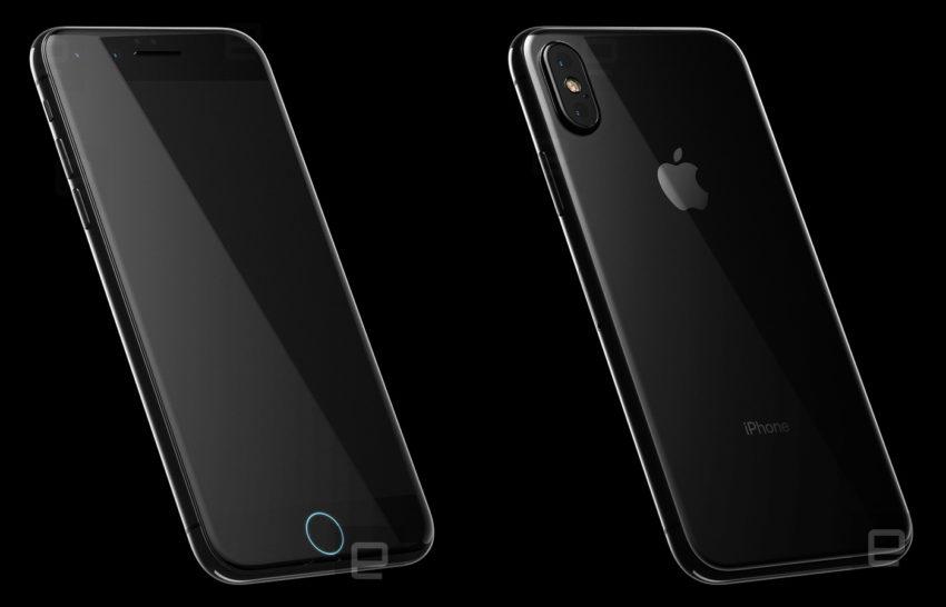 iphone 8 front back iPhone 8 : Engaget dévoile un nouveau rendu 3D