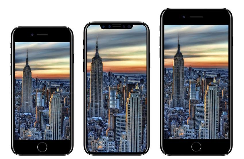 iphone8 taille comparaison Châssis en verre pour liPhone 8 et liPhone 7s dont la production de masse aurait débuté