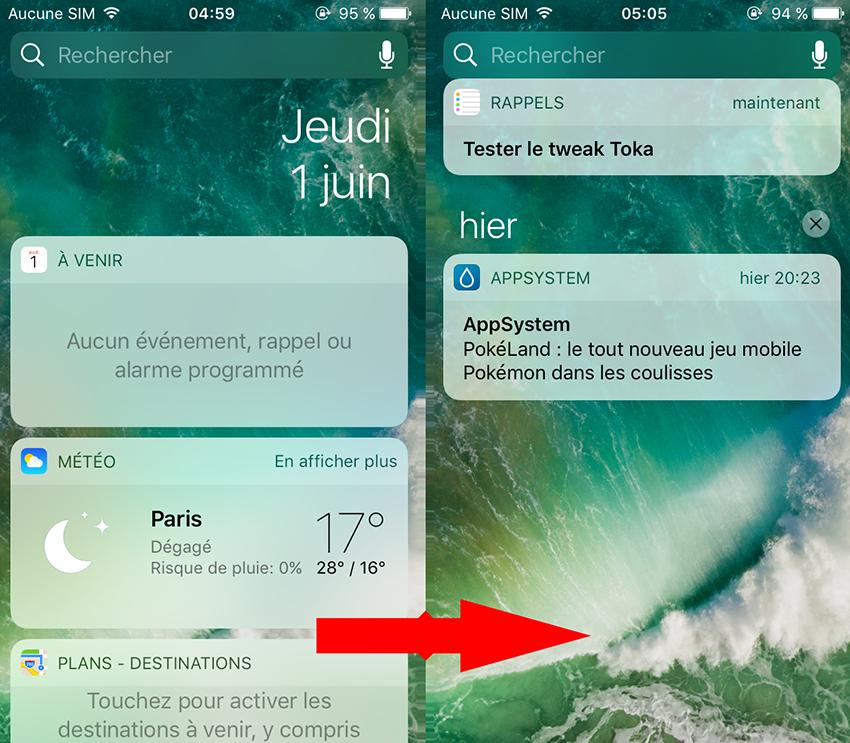toka cydia Cydia : Toka, remplacer la vue Aujourdhui par les notifications manquées