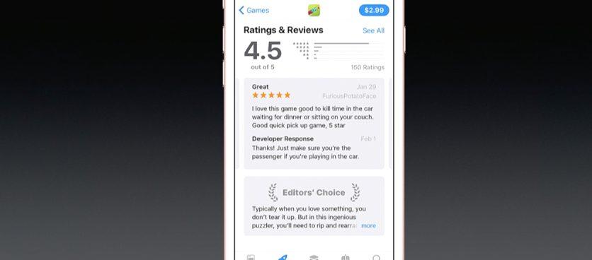 1496687431530588 WWDC 2017 : un nouvel App Store totalement revu a été présenté