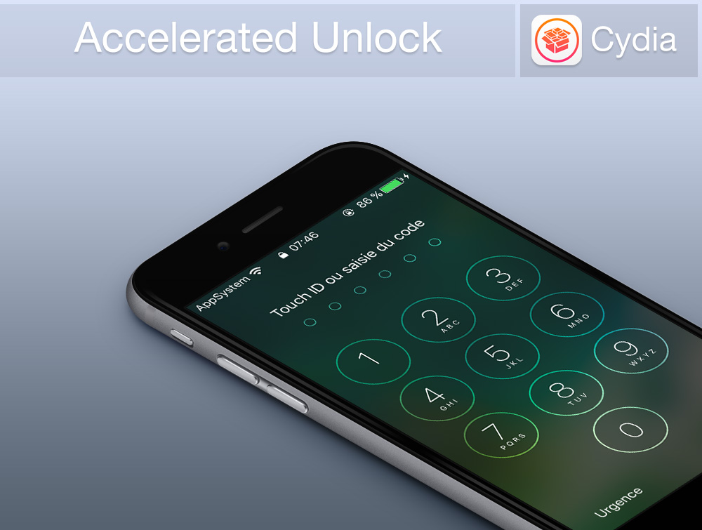 Accelerated Unlock Cydia Banniere Cydia : déverrouiller les iPhone et iPad sans Touch ID plus rapidement