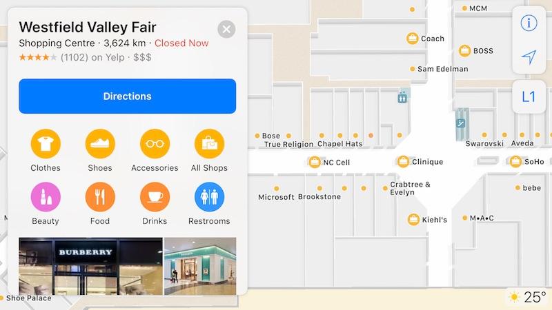Cartographie Interne Apple Plans 2 Plans sur iOS 11 : Apple a commencé à cartographier les aéroports et centres commerciaux