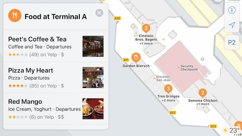 Cartographie Interne Apple Plans Apple Plans : les cartes de plusieurs aéroports aux États Unis sont prises en charge