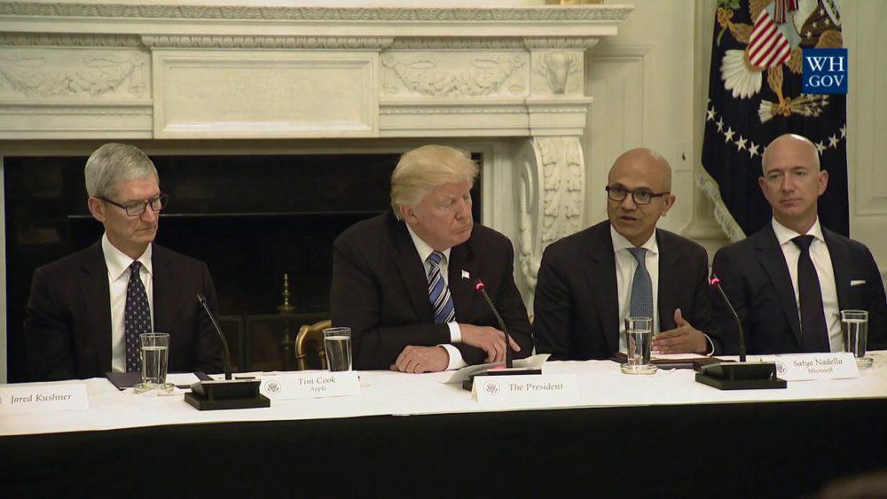 Video American Technology Council En vidéo : la réunion entre Tim Cook, Donald Trump et les autres CEO (American Technology Council)