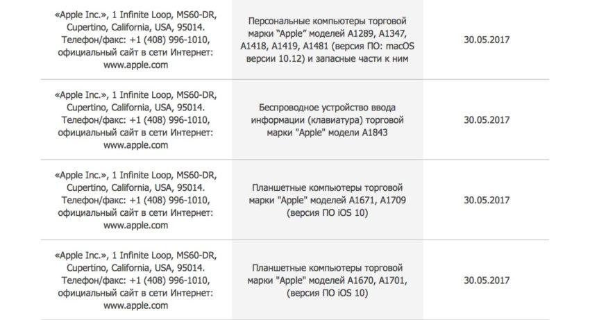 apple new products june 2017 De nouveaux modèles de Mac et iPad pour Juin 2017