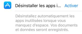 apps 320x134 Comment libérer de lespace mémoire sur iPhone avec liOS 11