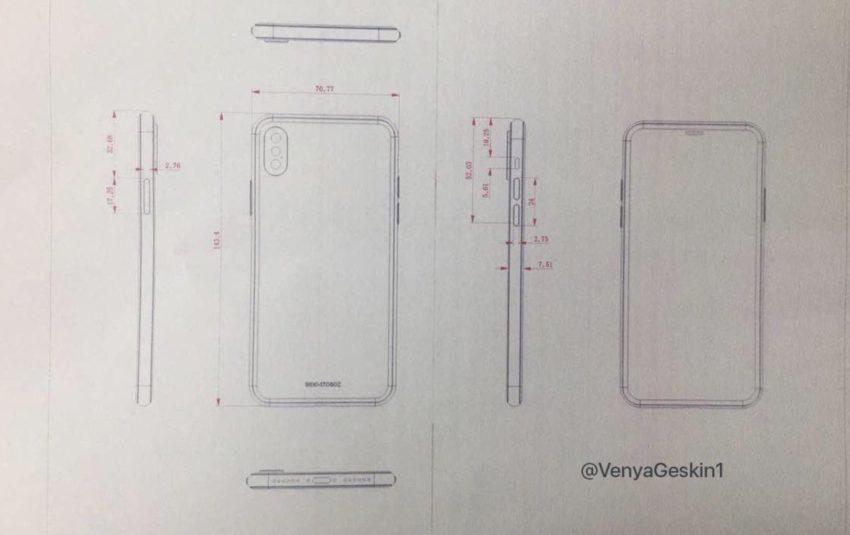 dessin industriel iphone 8 Châssis en verre pour liPhone 8 et liPhone 7s dont la production de masse aurait débuté