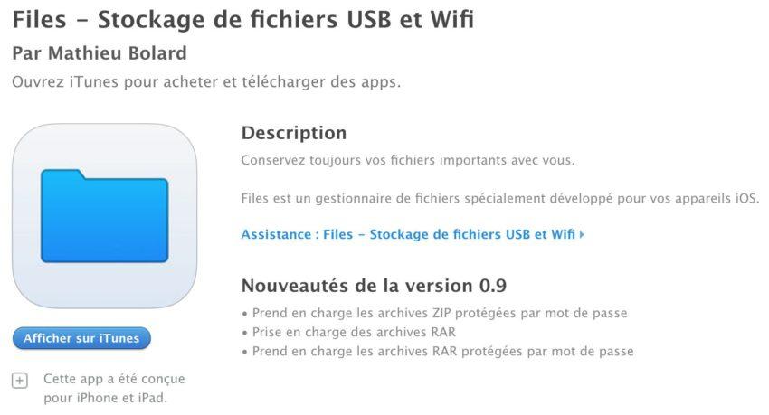 files app store 2 Une app Files similaire à celle dApple existait déjà sur lApp Store !