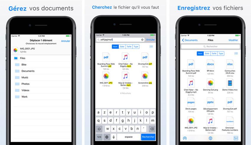 files app store Une app Files similaire à celle dApple existait déjà sur lApp Store !