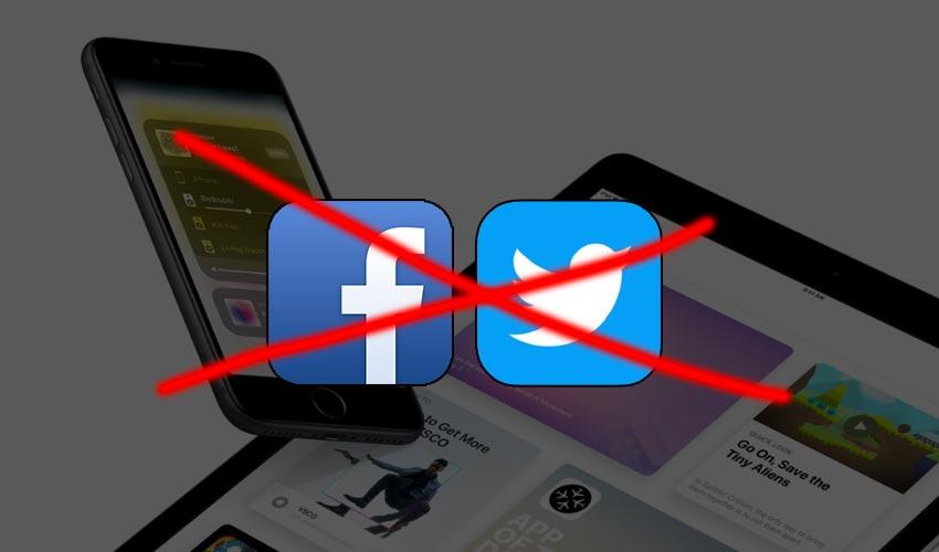 ios11 facebook twitter 7 fonctionnalités diOS 10 qui ne sont plus disponibles sur iOS 11