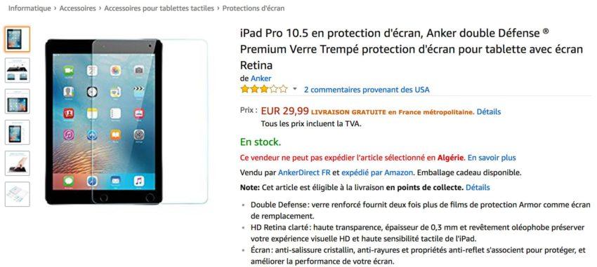 ipad pro 10 5 pouces amazon Une nouvelle trace de liPad Pro 10,5 pouces sur Amazon