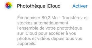 photos icloud 320x167 Comment libérer de lespace mémoire sur iPhone avec liOS 11