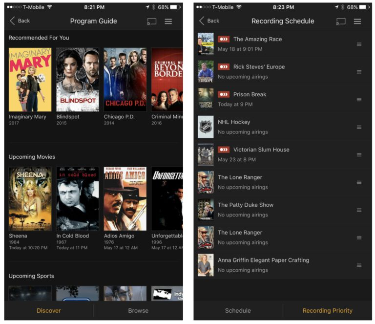plex 1 Plex Live TV et gestion DVR ajoutés à la dernière mise à jour pour iOS