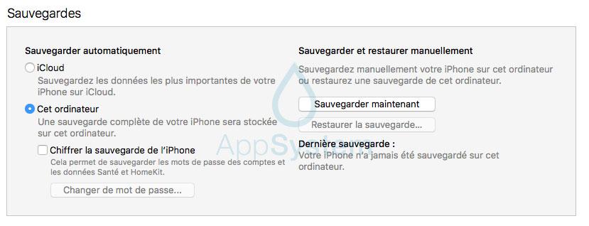 sauvegarde Tutoriel : downgrade iOS 11 bêta vers iOS 10.3.2 / iOS 10.3.3