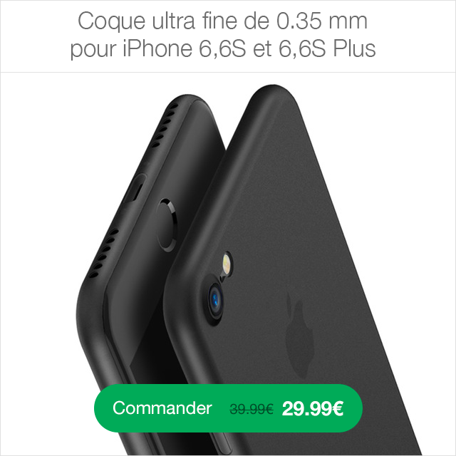 Coque ultra fine iPhone 6 0.35mm