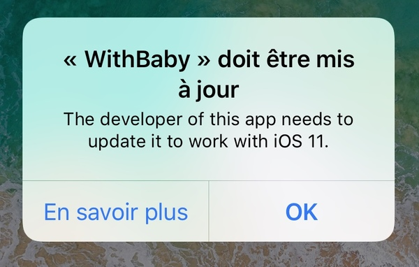 with baby ios 11 App Store : iOS 11 ne prend plus en charge les apps 32 bits