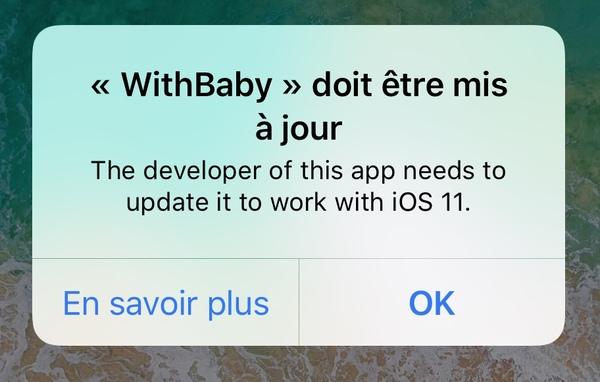 with baby ios 11 7 fonctionnalités diOS 10 qui ne sont plus disponibles sur iOS 11