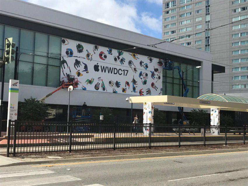 wwdc 2017 decorations WWDC 2017 au McEnery Convention Center : les décorations commencent !