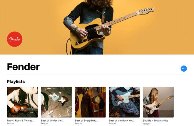Fender Apple Music Amateurs de guitare, une playlist Fender est à présent disponible sur Apple Music