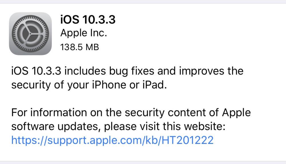 IMG 1364 iOS 10.3.3 fixe une faille de sécurité du WiFi