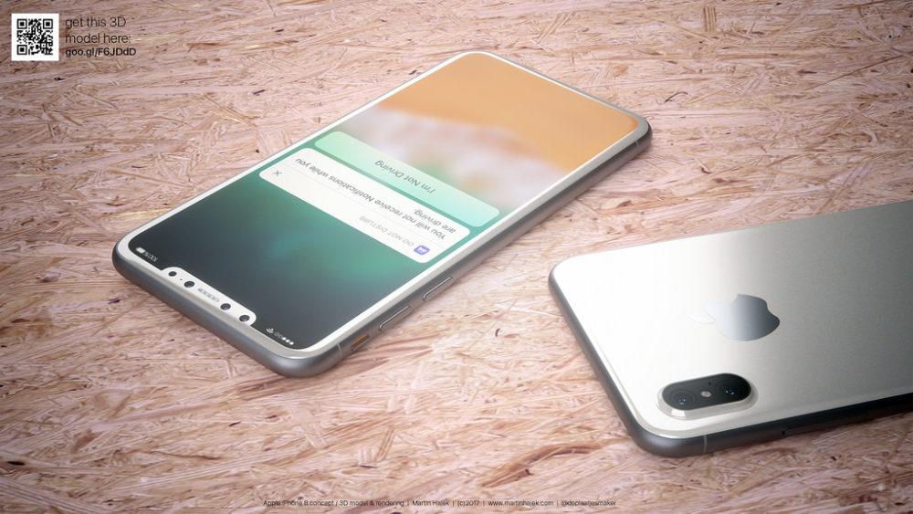 Martin Hajet Concept iPhone 8 1 iPhone 8 : iPhone Plus, Touch ID sur le bouton de verrouillage et nouveau coloris ?