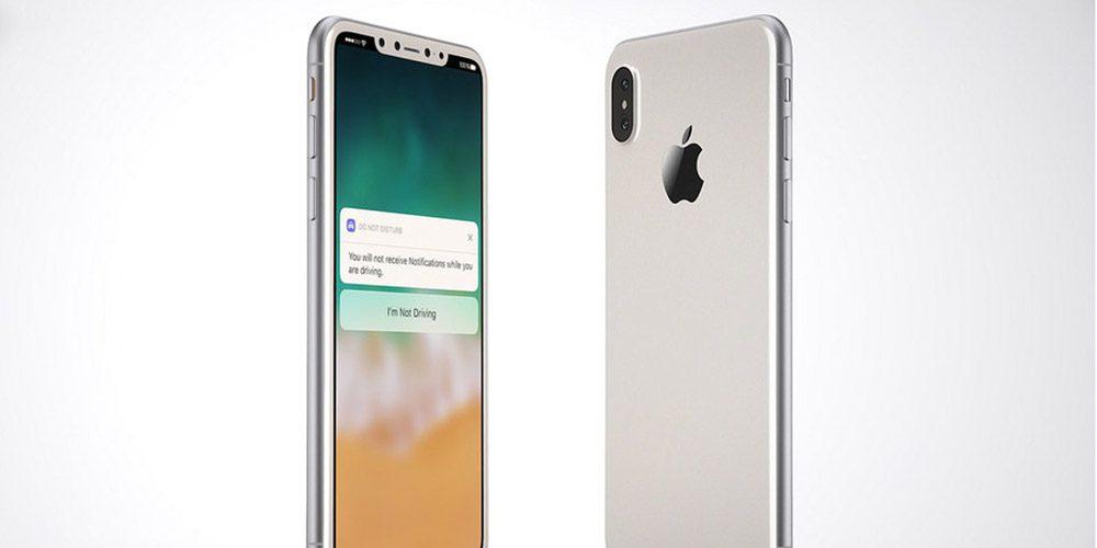 apple iphone 8 render 1 iPhone 8 : livraison pour fin octobre et pas de coloris blanc
