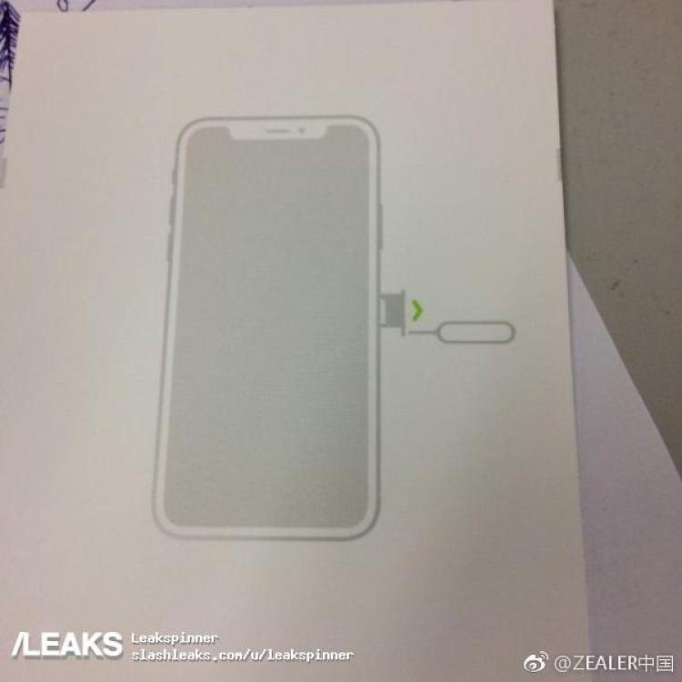 crop 2 Une photo de la notice de liPhone 8 précise sa forme et son écran