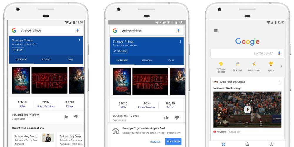 google feed montage Mise à jour de lapplication Google sur iOS : vers lhyper personnalisation
