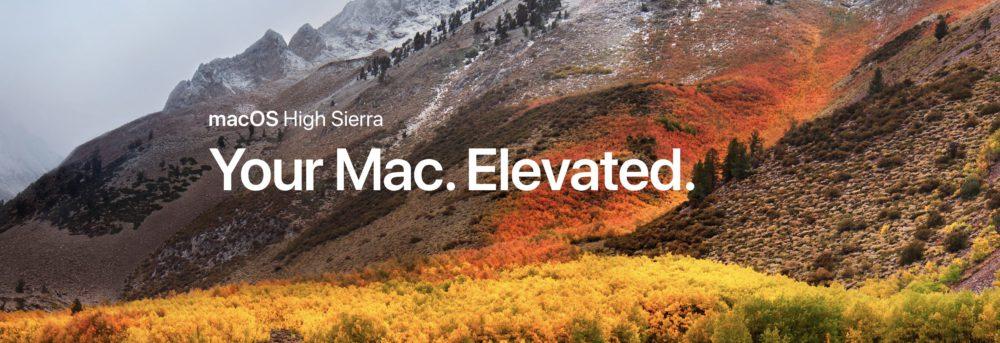 highsierra Sortie de macOS High Sierra, tvOS 11 et watchOS 4 bêta 4