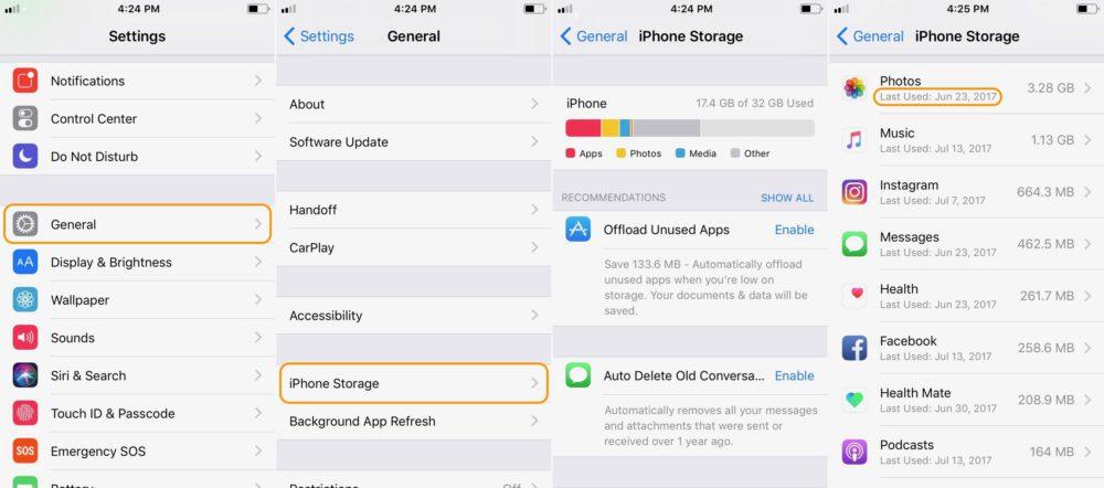 how to manage storage easier ios 11 iOS 11 permet de mieux gérer la mémoire de son iPhone et iPad