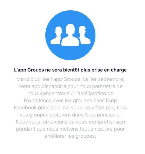 45515  Suppression de lapplication Groups de Facebook