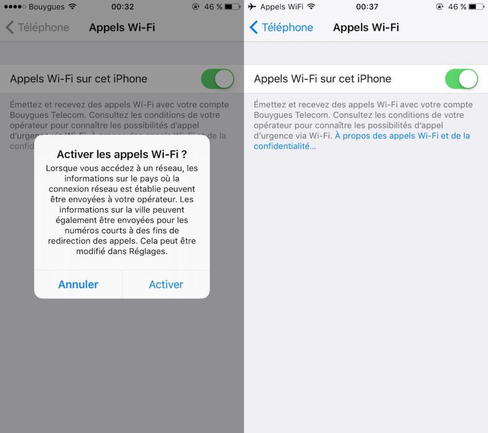 Bouygues Appels WiFi Pas dappel WiFi sur iPhone pour SFR avant octobre (et quid de Free ?)