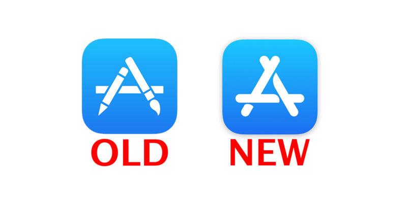 Old New Apple App Store blaaa 796x398 Apple change le logo de lApp Store pour la première fois depuis des années