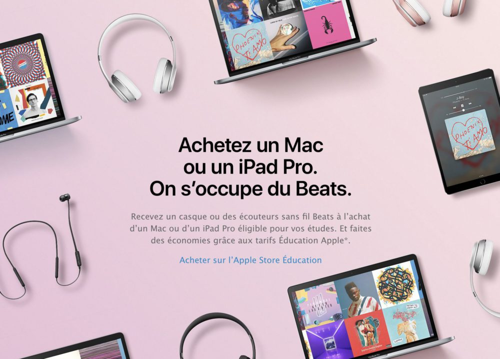 beats Apple lance son offre de rentrée pour les étudiants