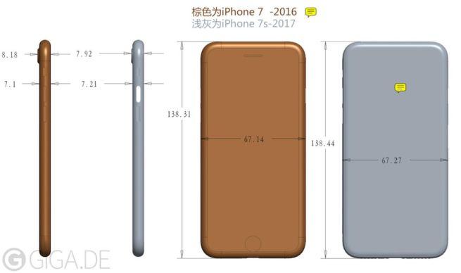 http media.melablog.it 7 70c iphone 7s masse skizze rcm992x588 LiPhone 7S plus épais que son prédécesseur : un goût de recharge sans fil ?