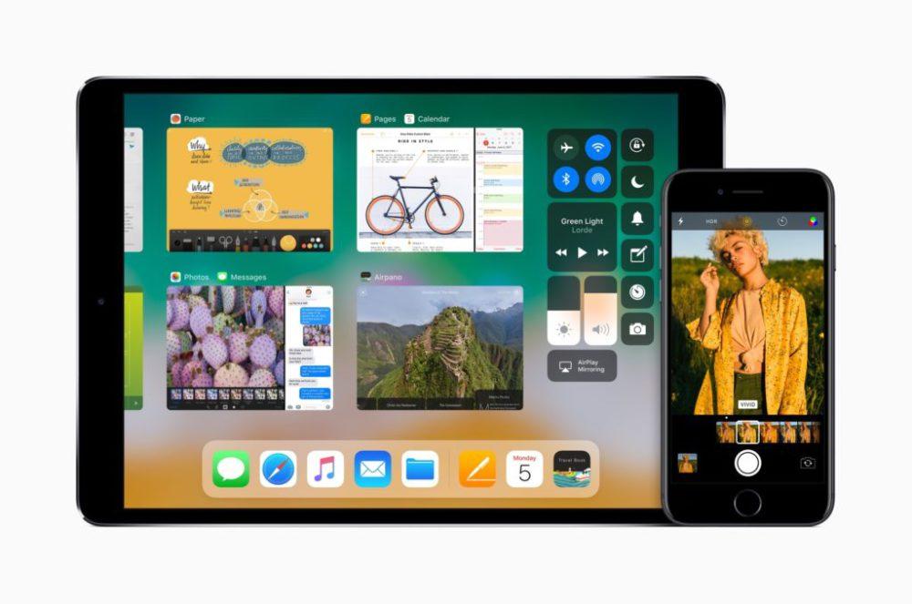 iOS 11 iPad iPhone iOS 11 beta dévoile le nouveau centre de contrôle et laccès à lapp switcher