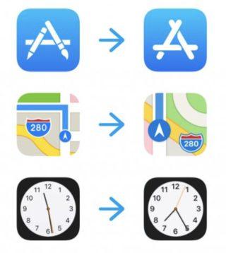 nouvelles icones ios11 320x358 Apple change le logo de lApp Store pour la première fois depuis des années