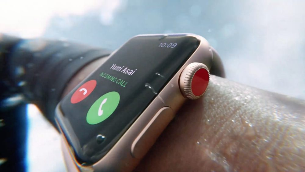 Apple Watch Series 3 incoming call 001 LApple Watch Series 3 peut passer des appels durgence sans forfait