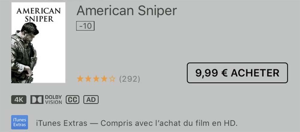 Films 4K iTunes Store iTunes Store : les premiers contenus vidéo 4K font leur apparition