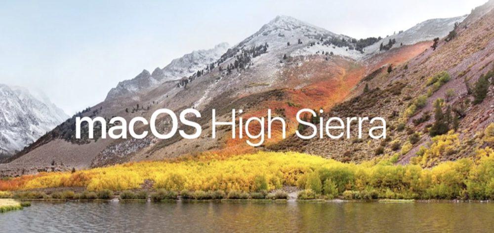 WWDC 2017 macos high sierra macOS 10.13.1 bêta 2, tvOS 11.1 bêta 2 et watchOS 4.1 bêta 2 disponibles