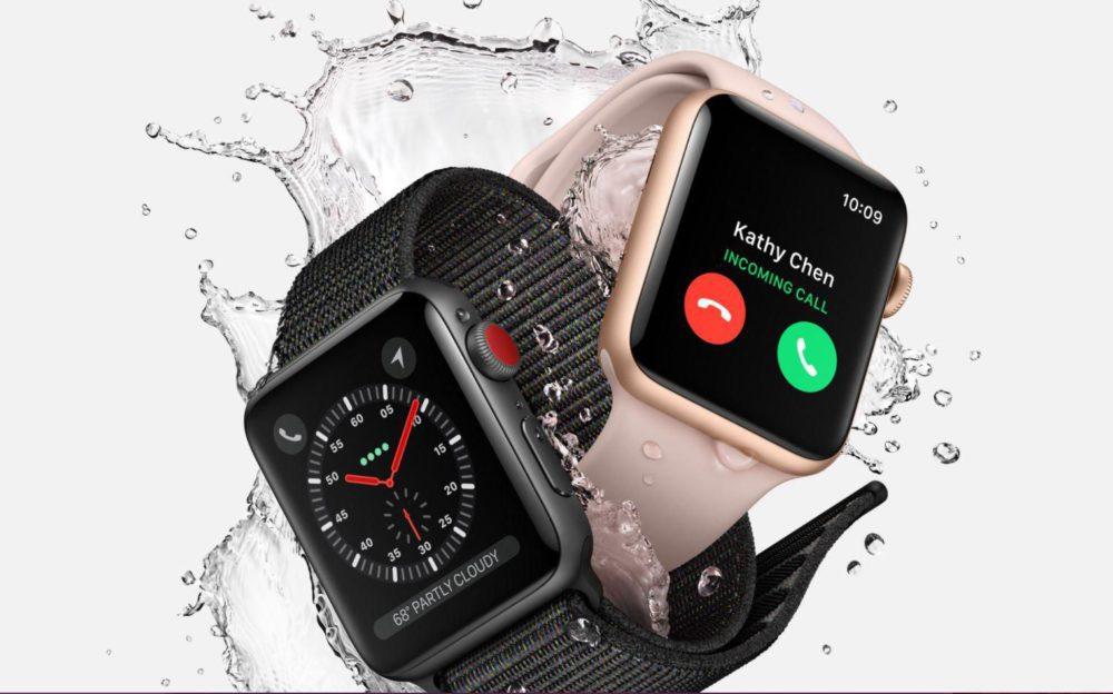 apple watch series 3 1000x624 Apple Watch Series 3 : caractéristiques, prix et date de sortie