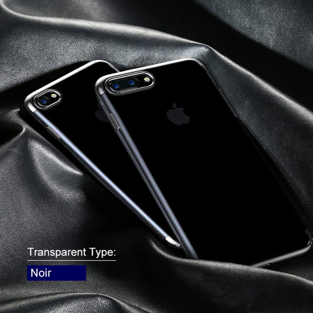 black 1000x1000 Coque JET B pour iPhone 7, 7 Plus   Fine et transparente