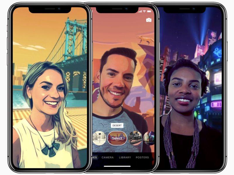 clipsselfiescenes 800x600 Apple Clips : des selfies originaux pour liPhone X