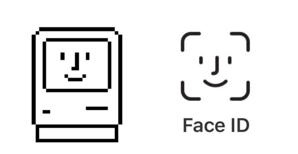 face id logo Le logo du Face ID ressuscite une icône de Macintosh
