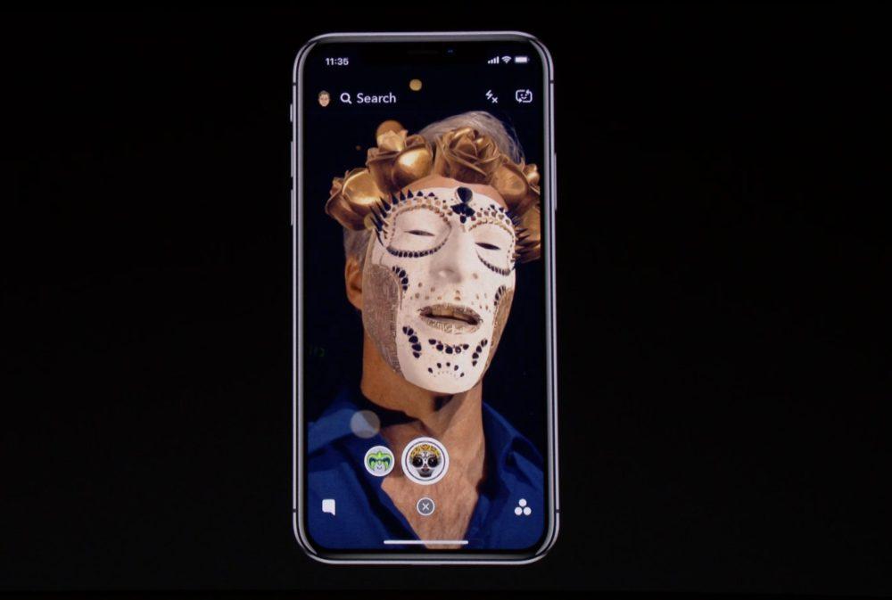 snapchat Apple Clips : des selfies originaux pour liPhone X