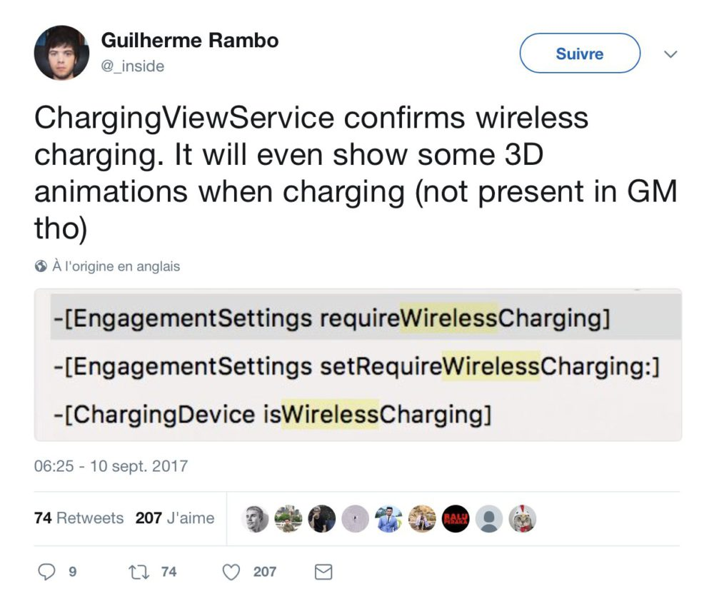wireless charging iphone x iPhone X : des animations 3D pendant la recharge sans fil
