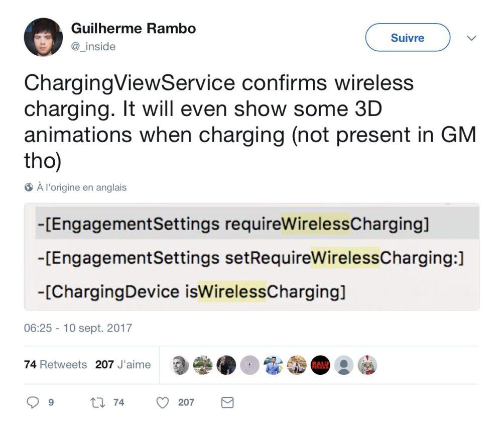 wireless charging iphone x iPhone X : des animations 3D pendant la recharge sans fil